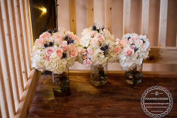 Bridal Bouquet- $99.95  Bridesmaid Bouquet- $49.95