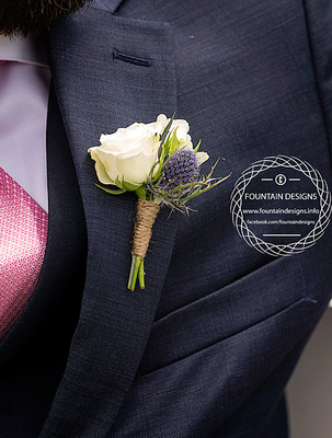 Double Spray Rose Boutonniere- $13.95